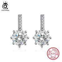 Orsa Jewels 925 스털링 실버 귀걸이 스터드 하트와 화살표 컷 지르콘 크리스탈 여성 결혼식 SE109에 대 한 귀걸이