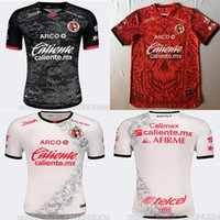최고 품질의 멕시코 라 리가 MX 클럽 Tijuana Shirt 20202021 홈 레드 루시아 리버로 보난스 셔츠 클럽 Tijuana 웨이 웨아나 아웃 남성 축구 유니폼