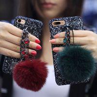반짝이 블링 다이아몬드 팔찌 체인 스트랩 모피 볼 케이스 아이폰 12 10 10 + 2] 0 초 11 프로 MAX XR (8) 삼성 S10 플러스 S20 FE 참고 A51 A71