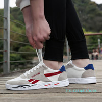 LlBreathable Tela di base da tennis degli uomini Scarpe a punta arrotondata Lace-Up Shoes Casual Uomini Sneakers Zapatillas Hombre LTS