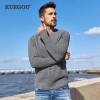 Keegou outono 100% algodão liso cinzento camisola homens pulôver jumper casual para macho wear marca de malha plus size roupas 14012 201124