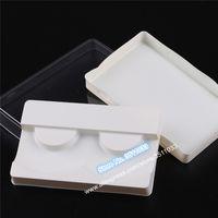 100pcs / lot blanc crème Faux Cils vide Boîte de rangement classique élégant emballage cosmétique paquet de boursouflure