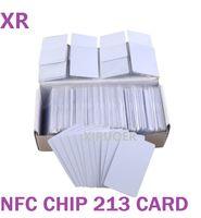 1000 PCS NFC Tarjeta PVC 13.56MHZ ISO14443A NFC 213 PVC Tarjeta de PVC 144ByTes TAG TAG Compatible con todos los teléfonos habilitados NFC