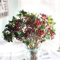 الزهور الزهور تكاليل نباتات التوت الاصطناعي bacca لحضور الزفاف الديكور diy سكرابوكينغ اكليلا