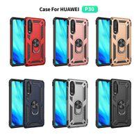 Voor Huawei P30 S8 9 10 S10 S10E Plus Militaire Drop Case Hono Ring Magnetische Cover voor telefooncase