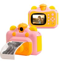 Caméras numériques Caméra d'impression instantanée pour enfants avec papier 2,4 pouces écran 12MP PO 1080P enregistrement vidéo enfants caméscope