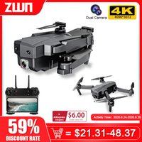 ZWN SG107 البسيطة بدون طيار مع 4K wifi fpv hd المزدوج كاميرا quadcopter الضوئية تدفق rc درون لفتة التحكم الاطفال لعبة vs e58 e68 SG106 LJ200827