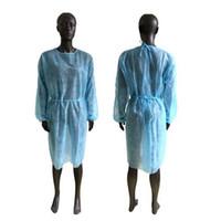 Não-tecidos de protecção Roupa descartável Isolamento Vestidos Vestuário Ternos Outdoor Anti pó descartável Raincoats CYZ2874 transporte marítimo