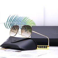 Óculos de sol do designer 3583 Óculos de sol do piloto de aviação superior para homens mulheres com estojo de couro preto ou marrom, pano e acessórios de varejo