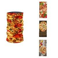 Новой 3D Printed пицца шаблон Женщина кольцо шарф лето шея Gaiter Headdress пыле UV Protection Mask Волшебного Спорт Бандан