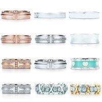 TIFF الاسترليني الفضة عادي الدائري الماس مزدوج t السيدات المفضلة هدية عيد مجوهرات الصين بالجملة