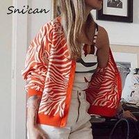 zèbre tricoté cardigan culture orange pull rayé origène kardigany za femmes tricots tricots mode sweter hauts Suter féminino ins 201202