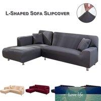الاقسام الأريكة الأغطية ركن أريكة على شكل L-يغطي لينة الأثاث الاغلفه أقمشة بوليستر تمتد الصلبة اللون صوفا يغطي D3