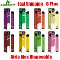 Оригинальный комплект устройства Airis Max Одноразовая Pod 1600 Puff 950mAh 5,6 мл Укажи Портативный Vape Стик Bar Plus Flow XL XXL Max 100% Authentic