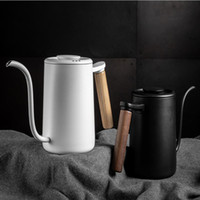 Coffee Roasters 11.11 2021 YUHANG HOME FANS' Blue&Baby Pink Maccaron Color 700ml Pot Wood Handle Pitcher