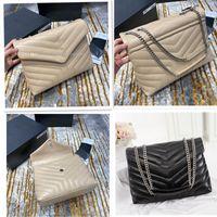 2020 Novo Loulou Luxo Designer Bolsas Em Forma de Couro Quilted Mulheres Mulheres Sacos de Cadeia Bolsa De Ombro Alta Qualidade Grande Capacidade Envelope Saco