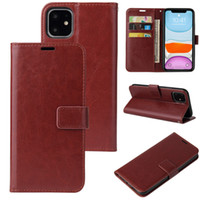Coque téléphonique en cuir PU pour iPhone 13 12 11 PRO Max portefeuille boîtier XR XS SE Cover Kickstand avec des machines à sous cartes