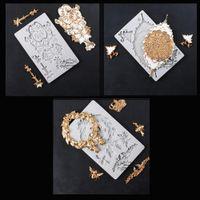Yueyue sugarcraft الزفاف كعكة الديكور سيليكون العفن فندان العفن أدوات تزيين الكعكة الشوكولاته gumpaste العفن T200703