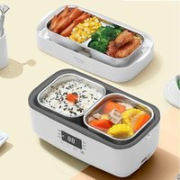 220V Elétrica Hot Pot Pot Fogão de arroz Portable Mini 2 Camada Almoço Caixa de Aquecimento Multi Fogão Com 4 Cilindro Interno EU / AU / UK / US Plug1