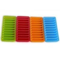 Bube Flush Силиконовое мороженое Средства Copsicle Cube Tray Freeze Ледяная плесень Пудинг Желе Шоколадные Печенья Форма для кухни Инструмент 4 Цвета DDD3622