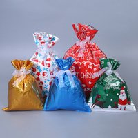 30 قطعة / المجموعة أكياس هدية عيد الميلاد عطلة الحلوى حقيبة لطيف الرباط حقيبة التخزين التفاف الحقيبة حزب الإحسان ديكورات GGA3793
