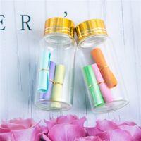 27 * 58mm 24pcs 20ml bottiglie di vetro in alluminio Vite Golden Cap vuoti trasparente neutro liquido regalo container Vasi che desidera bottiglia