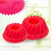 Силиконовые Cake Mold, антипригарным выпекание рифленая труба торт Чашка для Желе, желатин, силиконовые формы для выпечки куличей, Pan MY-inf0451