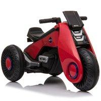 어린이 전기 오토바이 3 바퀴 더블 드라이브 타고 레드 블랙 핑크 화이트 바디 소재 PP 플라스틱 선물 어린이를위한 플라스틱 선물