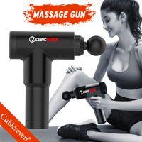 CUBICSEVEVEVEVEVEVEN® Высокочастотный массаж пистолет мышц массаж пистолет спортивная терапия массажер для релаксации тела релаксация боли для похудения
