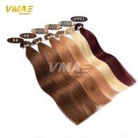 VMAE Европейский индийский индийский 0,5 г S 100G двойной нарисованной натуральной черной коричневой блондинки прямой предварительно связанный u Tip Rear Remy Remy Extensions