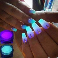 1 Box Neon Phosphor-Puder-Nagel-Funkeln-Puder 10 Farben Staub Luminous Pigment Fluorescent Puder-Nagel-Glitters Glow in the Dark