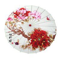 Творческая печать танцевальная зонтика вишневые цветки шелковые зонтики водонепроницаемость декоративная фотография опоры зонтика ремесло свадебный подарок 19sq H1