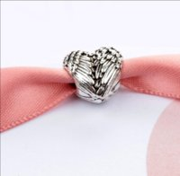 European Silver Big Hole Charms Spacer Beads Lâche Fit Pandora Bracelets PS2797