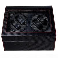 4 + 6 High End Automatikuhr Wickler Boxwatches Aufbewahrungsschmuck Halterung PU Leder Uhrenbox Ultra leise Motor Shaker Box
