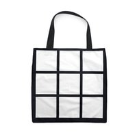 Reusable Cloth Handbag Tote Bag White DIY Heat Sublimation Blank Storage Panels Grid FFA4521 Shopping Gift Transfer 9 Hnjof