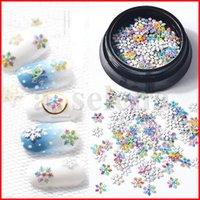 Snowflak Nail lentejuelas Navidad 3D Nail Art Slice Blanco Colorido Colorido Ultrathin Snowflower Metálico Herramientas de manicura