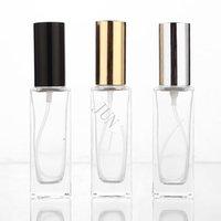 Garrafas de armazenamento frascos 30ml frasco de perfume de vidro mini viagem portátil pode ser preenchido com o shell da bomba de pulverizador de cor do atomizador