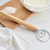 Dough Whisk Mixer Blender Bread Flour Egg Beater Stainless Steel Dutch Danish Cake Dessert Mixer Blender Admixer Kitchen Tools KKB2884