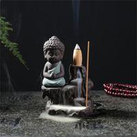 Ceramics Backflow Packisn Bearer Фиолетовый песок Будды горы реки ароматерапия печь домашняя обстановка офиса 10HS J2