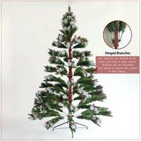 الولايات المتحدة الأسهم الثلوج توافد شجرة عيد الميلاد 7.5ft شجرة الصنوبر المصطنعة المصنعة مع نصائح واقعية واقعية مضاءة زينة عيد الميلاد W49819948