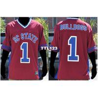 121 # 1 Güney Carolina State Bayan Bulldogs Kolej Forması Boyutu S-4XL veya özel herhangi bir isim veya numara forma