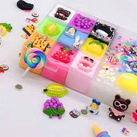 500ml Charms Slime Toys DIY Polymer Clay Toys Cute Stretchy Individuality Charm Elasticity Slime Relief Stress Gift for Kids 201226
