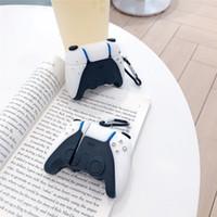 브랜드 PS5 게임 콘솔 핸들 3D AirPods 1 2 Pro 충전 상자 부드러운 실리콘 무선 블루투스 이어폰 보호 커버 케이스 MQ50 보호