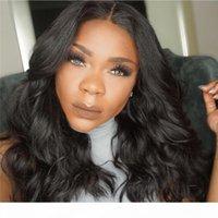 أعلى جودة قصيرة خصم جميلة 100٪ غير المجهزة ريمي عذراء الشعر البشري طويل اللون الطبيعي موجة الطبيعية الدانتيل كاب لمة للنساء السود
