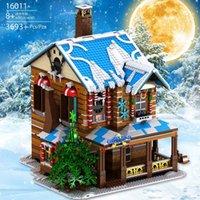 16011 Street View View Serie natalizia Merry Christmas House Building Blocks 3693PCS Mattoni Educazione Giocattolo Giocattolo Regalo di Natale
