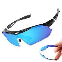 5Lens Polarized Sports Sunglasses gafas ciclismo UV Protector Cycling Glasses Men Women Bike Eyewear Cycling Sunglasses Q0121