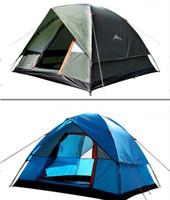 2020 Neue 4 Person Doppelter Deck Outdoor Familie Camping Reise Zelt Vollautomatische Frühlingstyp Quick-Open Sun Outdoor Camping Zelt auf Lager
