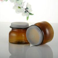 30 unids 60ml 180ml Frasco de crema cosmético marrón vacío con tapa de tornillo PERFUMES SÓLIDOS Embarcaciones Polvo Botellas Bálsamo Pot Jars TINGOOD Producto