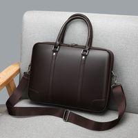 مصمم-الرجال حقيبة قطري PU حمل حقائب عالية الجودة حقيبة كمبيوتر محمول حقيبة كتف الرجال الكلاسيكية