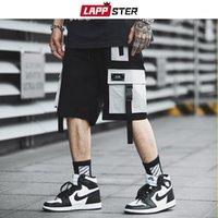 Lappster Erkekler Streetwear Renk Blok Kargo Şort 2019 Yaz Hip Hop Şort Erkekler Joggers Polyester Sweatshorts Kemer Haki1